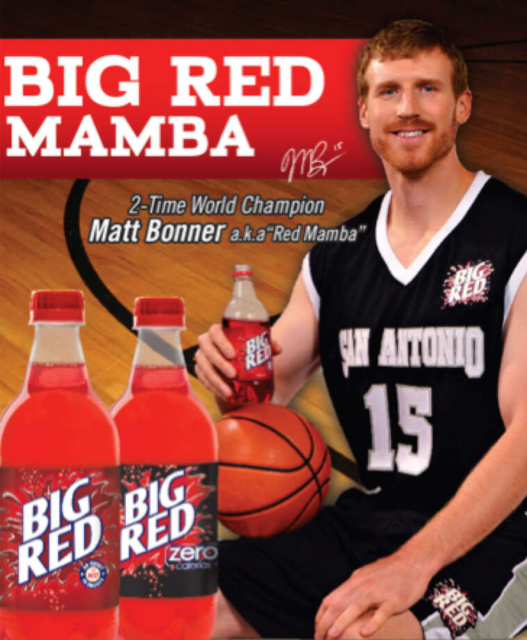 "The Spurs' Matter Bonner has signed on to be a brand ambassador for San Antonio's favorite flavored soda, Big Red. But why stop there? Click through the slideshow for 11 more red products we'd like to see the ""Red Mamba"" endorse.  Photo: Big Red, Courtesy"