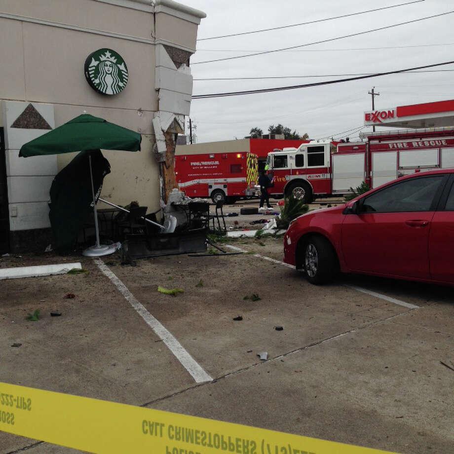 Car Crashes Into Bellaire Starbucks