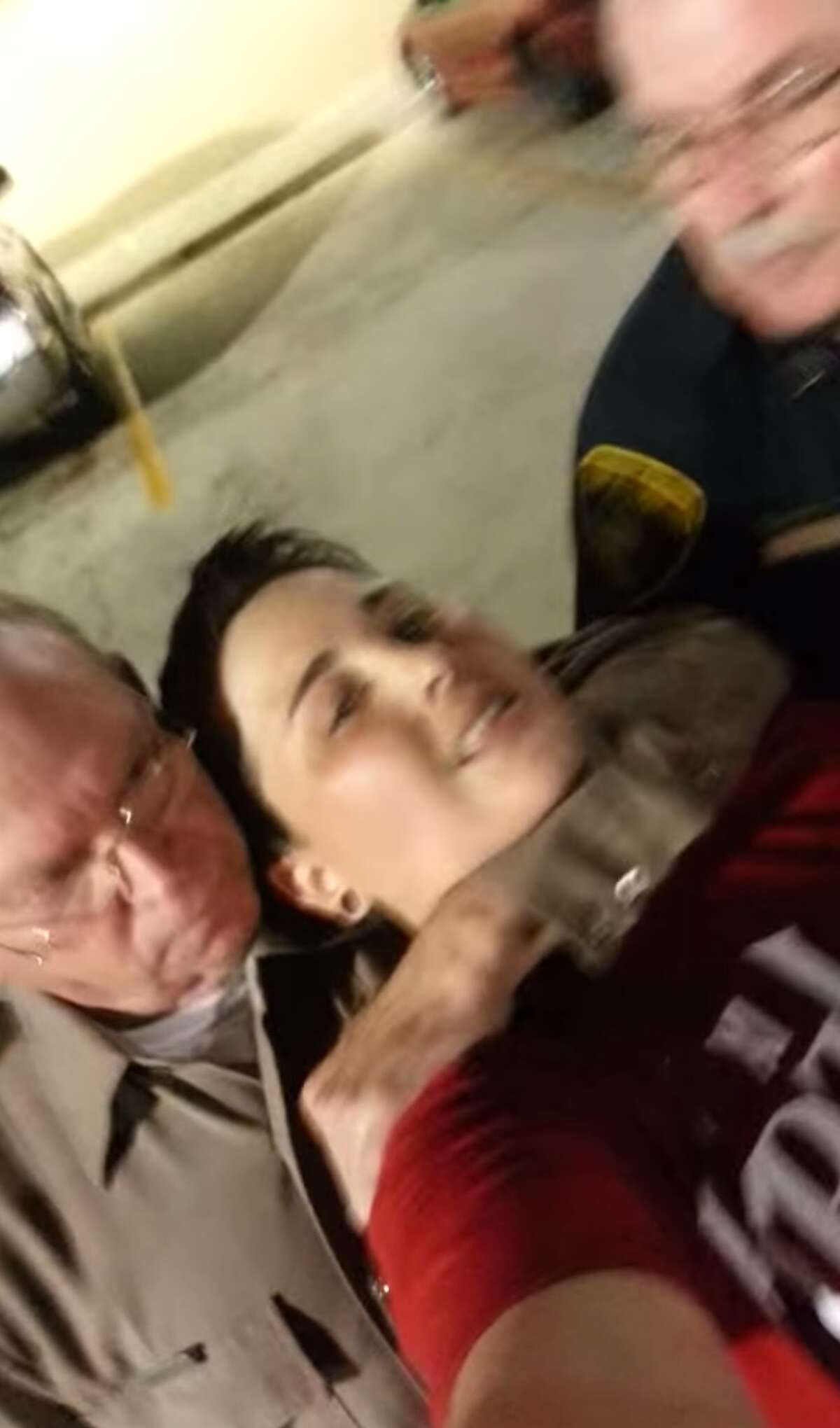 A video uploaded by Lanessa Espinosa on YouTube shows officers placing her in a choke hold. Corpus Christi Senior Officer Jerry Lockhart and an off-duty officer for the Nueces County Attorney's Office detaining her for