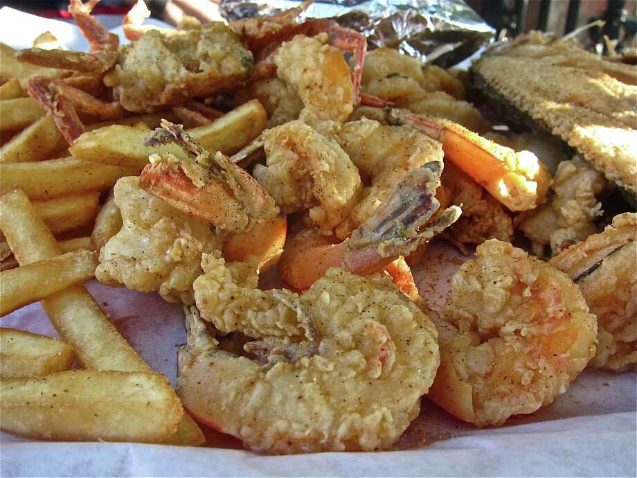 Pier 8 Seafood MarketCuisine: SeafoodMust-try dish: fried shrimp, mini crabsAddress: 409 Todville in SeabrookPhone: 281-474-4588Prices: Seafood market-priced by the pound (10-15 