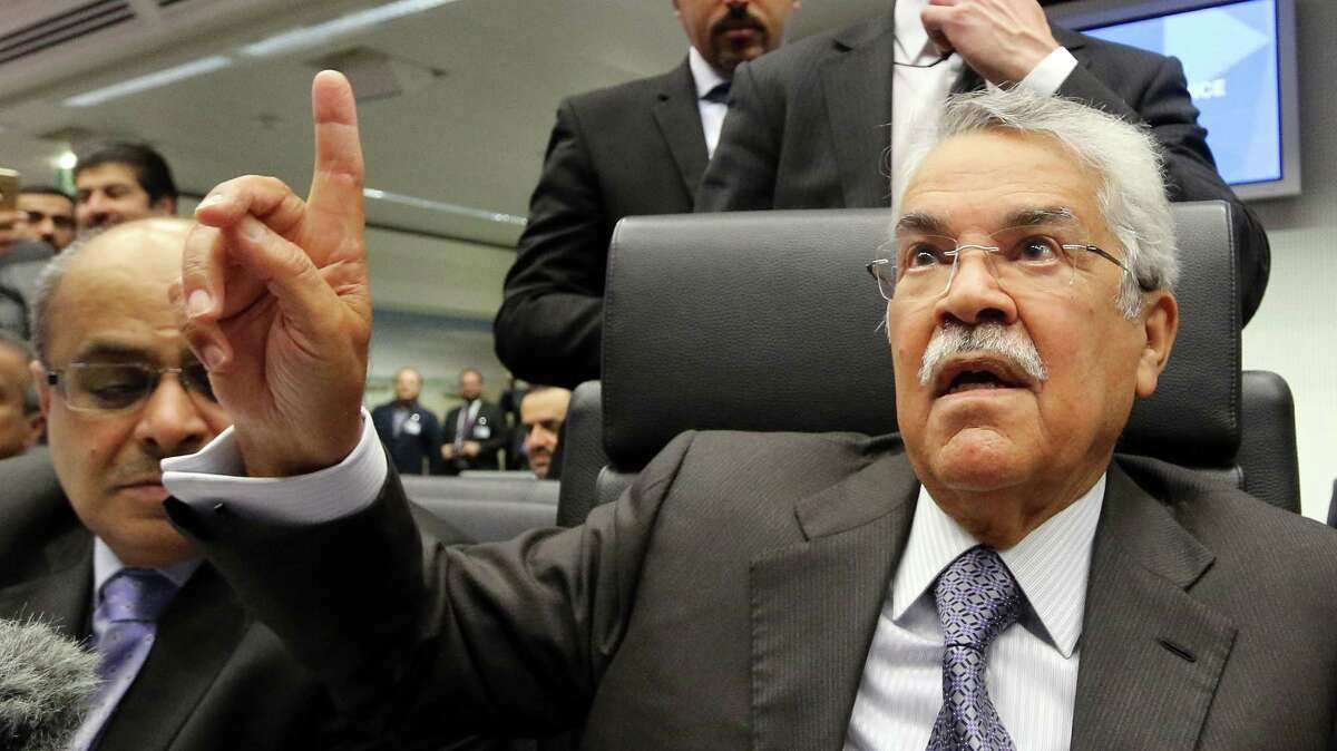 """Saudi Arabia's oil minister Ali Ibrahim Naimi dismissed questions about his country cutting production. """"This is a market, and I'm selling in a market. Why should I cut?"""""""