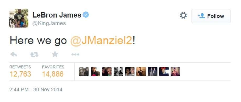 Screenshots from Twitter show reactions to Cleveland Browns quarterback Johnny Manziel's performance on Sunday's game against the Buffalo Bills. His touchdown drive has garnered new fans, and support calls for Browns coach Mike Pettine to start Manziel in the upcoming game. Photo: Twitter Screenshots
