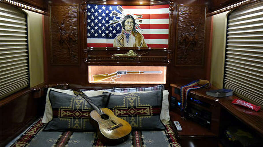 """This past week the Travel Channel show """"Extreme RVs"""" took a tour inside Willie Nelson's touring bus, which is outfitted with numerous creature comforts for Nelson and his family as he travels the country with his trusty guitar """"Trigger"""" and his band. (TravelChannel.com)"""