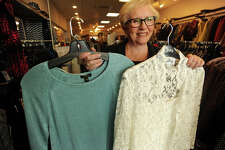 Owner/buyer Selma Gold sells fashionable women's outfits perfect for holiday parties at Harper's of Fairfield at 2246 Black Rock Turnpike in Fairfield Conn. on Tuesday, December 2, 2014.