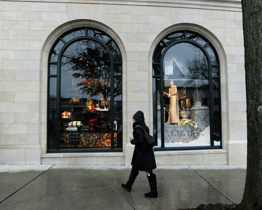 The Ralph Lauren store holiday window display at 265 Greenwich Ave., Greenwich, Conn., Tuesday, Dec. 2, 2014. Photo: Bob Luckey / Greenwich Time