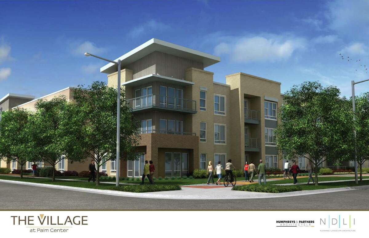 A rendering of The Village at Palm Center, a mixed-use development at the corner of MLK and Griggs. The ITEX Group is developing the project.