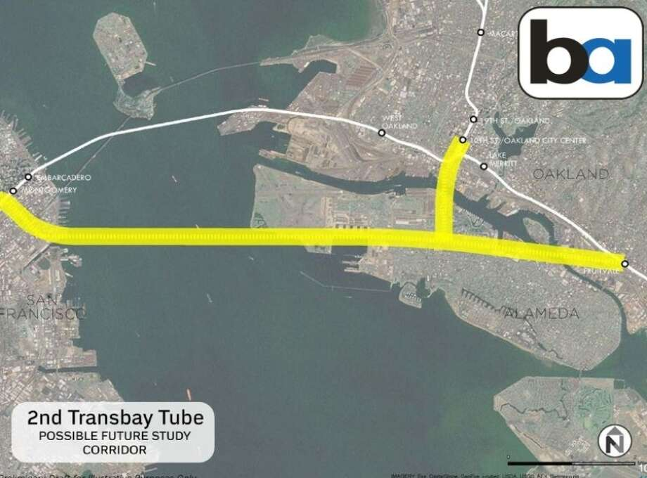 One idea for expanding BART service would be to build an additional transbay tube from Oakland to San Francisco. Photo: Courtesy / BART Vision Metro Program / ONLINE_YES