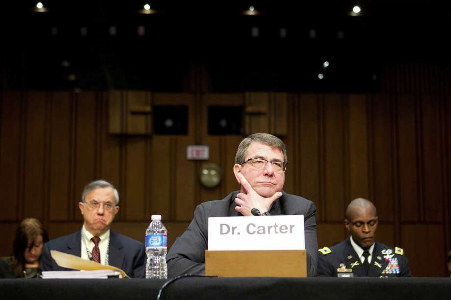 FILE -- Ashton Carter, a low-key weapons specialist and longtime Pentagon official, testifies before the U.S. Senate on Capitol Hill in Washington, March 28, 2011. Carter has recently emerged as the odds-on favorite to replace Defense Secretary Chuck Hagel, who was ousted in November 2014, a senior administration official said on Dec. 2. (Philip Scott Andrews/The New York Times) Photo: PHILIP SCOTT ANDREWS, STF / New York Times / NYTNS
