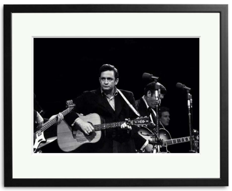 Sonic Editions is releasing for sale these never-before-seen photos of Johnny Cash at his legendary appearance with wife June Carter Cash at San Quentin. (Photo by ITV/REX) Photo: Sonic Editions