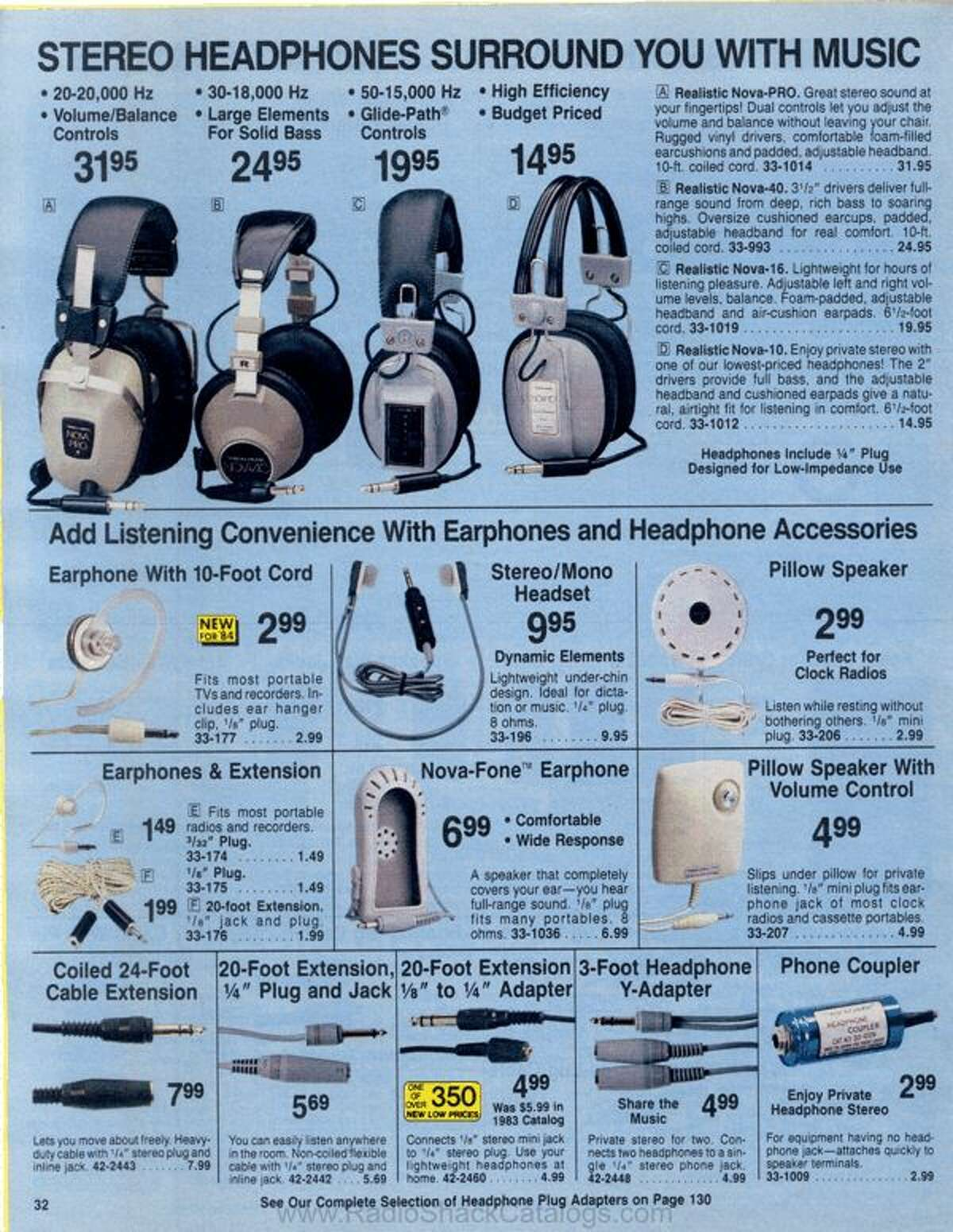 Beats by Grandmaster Flash?   A RadioShack fansite has scanned in most every catalog that the electronics store has put out for the past 70 years. For the 2019 holiday gift-giving season we took a look at the items that were in high demand 30 years ago in 1984.