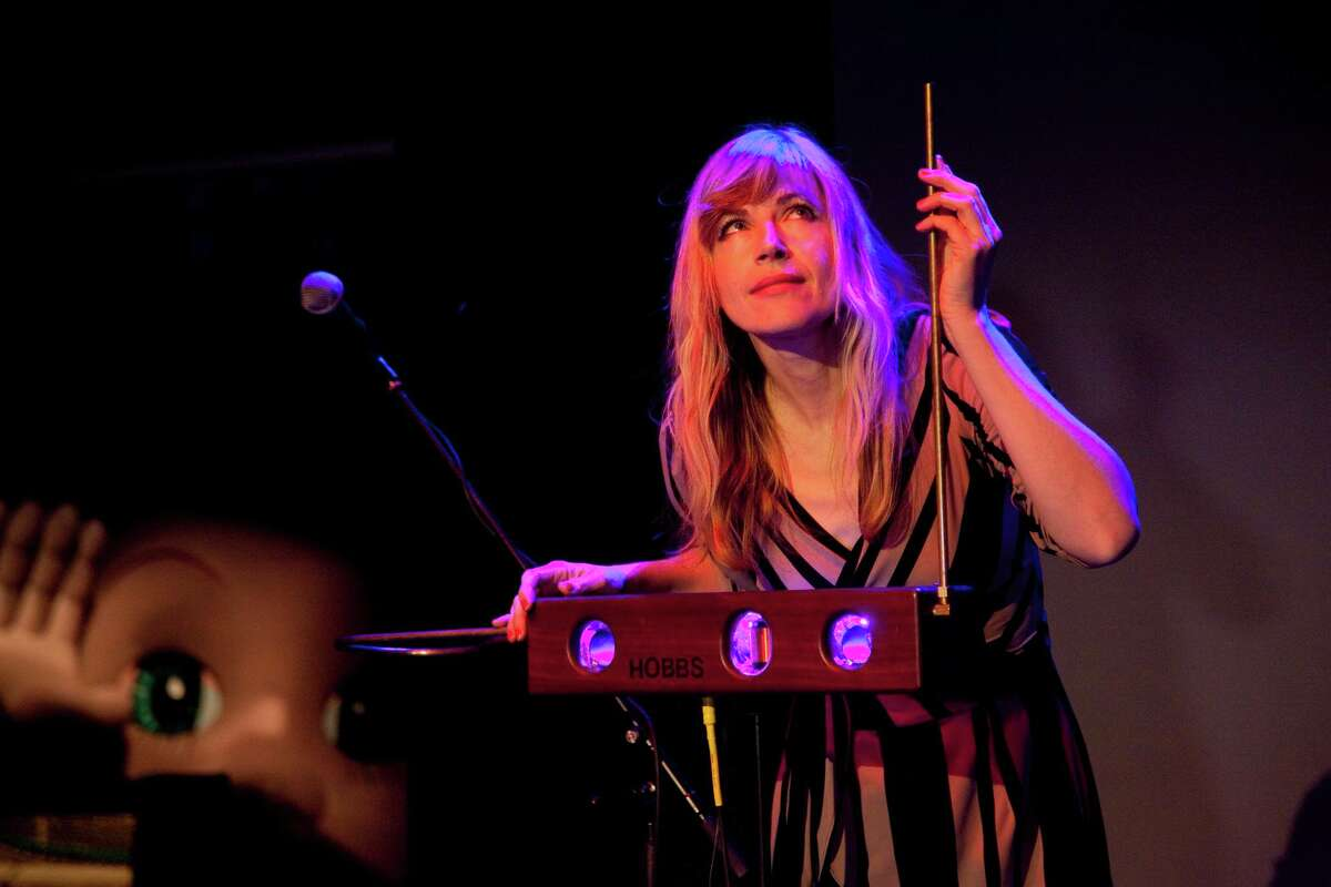 The theremin, being played by musician Dorit Chrysler, will be celebrated at the Bayou City Music and Film Festival.