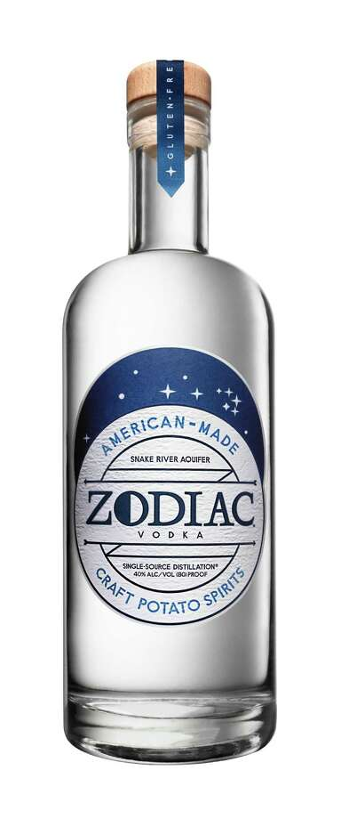 Zodiac Vodka is a premium craft American potato vodka now available in Texas. Zodiac calls itself a  farm to bottle  vodka that s made in Idaho from locally grown potatoes  from the heart of Idaho potato country  and water from the Snake River Aquifer which runs beneath the Rigby, Idaho distillery. The result is a sweet, pure and distinct-tasting vodka ($25). Photo: Zodiac Vodka / Zodiac Vodka