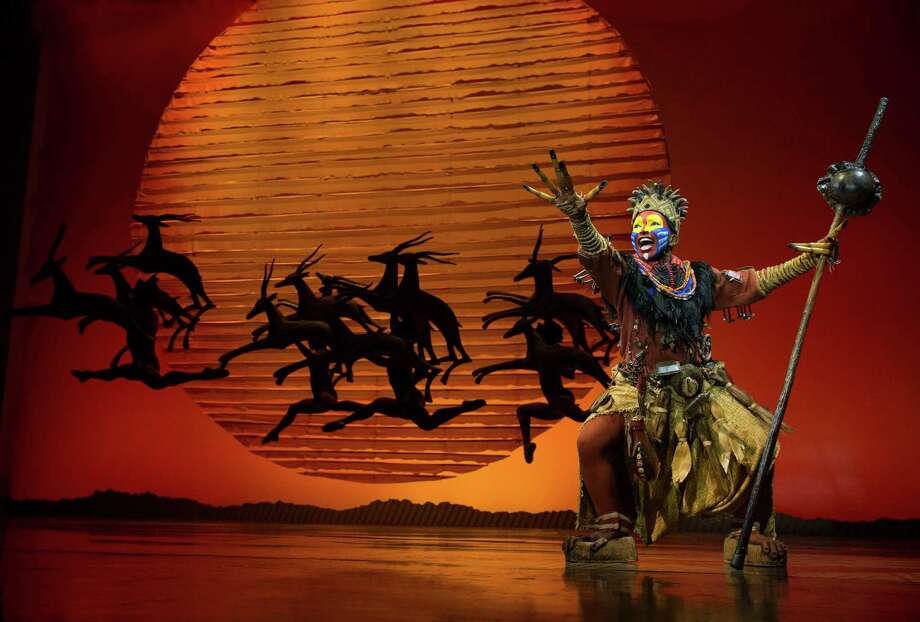 "This 2014 photo released by the Disney Theatrical Group shows Nteliseng Nkhela in a scene from Disney's ""The Lion King,"" in New York. Disney Theatrical Productions is letting ticketholders to its Broadway shows - ""Aladdin"" and ""The Lion King"" - the chance to switch the dates they see the musicals for any reason as long as it's done two hours before the performance. (AP Photo/Disney Theatrical Group, Joan Marcus) Photo: Joan Marcus, HONS / Associated Press / Disney Theatrical Group"
