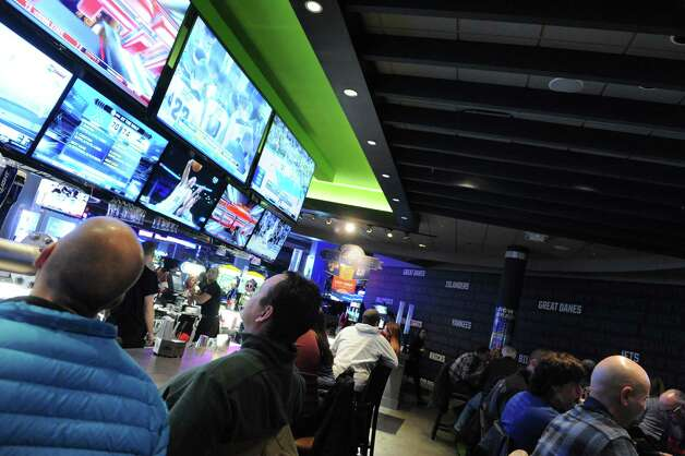 Television sports viewing  at Dave & Buster's at Crossgates on Saturday Jan. 25, 2014 in Guilderland, N.Y. (Michael P. Farrell/Times Union) Photo: Michael P. Farrell / 00025504A