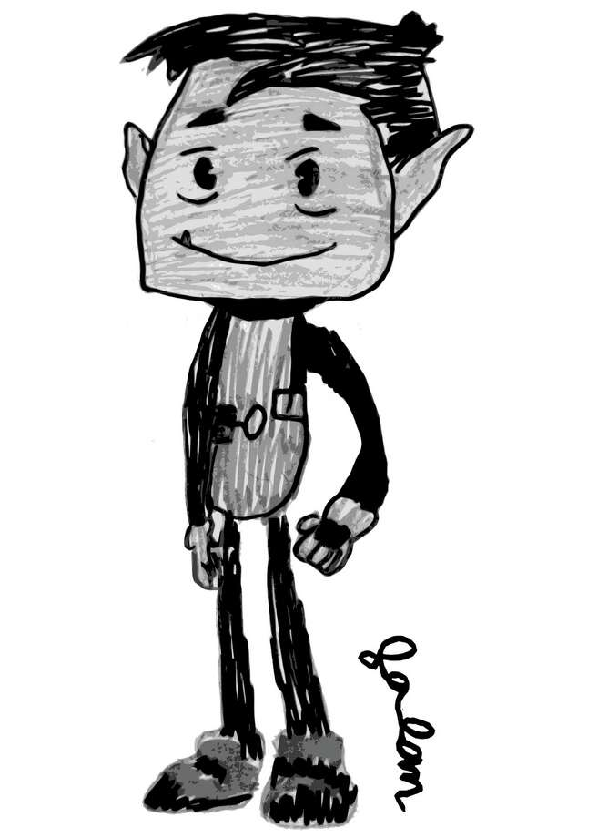 """Our Cartoonist of the Week is 6-year-old Jason O'Brien who attends International School at Dundee. Jason likes reading """"Garfield"""" comic strips in the newspaper, and watching """"SpongeBob SquarePants"""" on TV.  He also likes drawing characters from the animated series """"Teen Titans Go.""""  Instructor Phil Lohmeyer chose Jason's drawing of Beast Boy from """"Teen Titans Go"""" because he created a very proportional character with several levels of greyscale shading.  Besides cartooning, Jason likes watching computer animated movies, such as """"The Polar Express,"""" and making collages in art class. Jason takes cartooning classes with Lohmeyer (philliplohmeyer@yahoo.com), an artist from Cos Cob who teaches group lessons at the Eastern Greenwich Civic Center (203-637-4583) and private lessons at Jack Dog Studio on Greenwich Avenue (203-570-6870). Photo: Contributed Photo / Greenwich Time Contributed"""