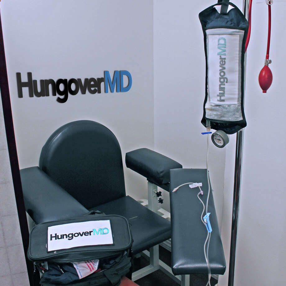 Greenwich doctors Steven Murphy and Josh Shajan are launching a new business that will provide clients with hangover relief via IV packs during house calls. Photo: Contributed Photo / Greenwich Time Contributed