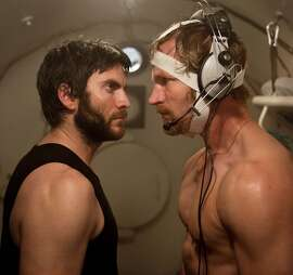 "Wes Bentley (left) squares off with Andre Eriksen in Norwegian thriller ""Pioneer,"" about deep-sea divers."