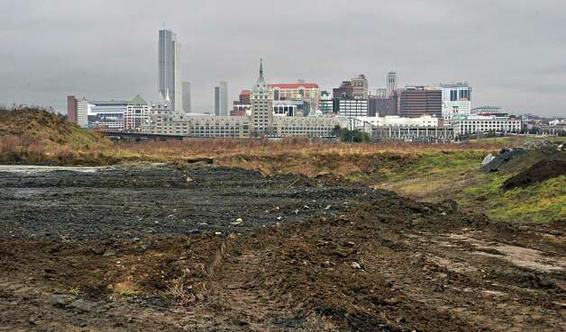 The city of Albany skyline as seen from the site of the proposed Rensselaer casino Wednesday, Dec. 3, 2014, in Rensselaer, NY.  (John Carl D'Annibale / Times Union) Photo: John Carl D'Annibale / 00029722A