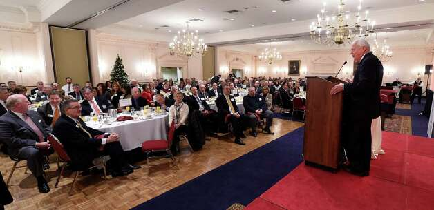 Hugh Johnson provides his annual outlook for the region's economy at the Albany-Colonie Chamber of Commerce breakfast Wednesday morning Dec. 3, 2014 at the Desmond Hotel in Loudonville, N.Y.      (Skip Dickstein/Times Union) Photo: SKIP DICKSTEIN / 00029683A