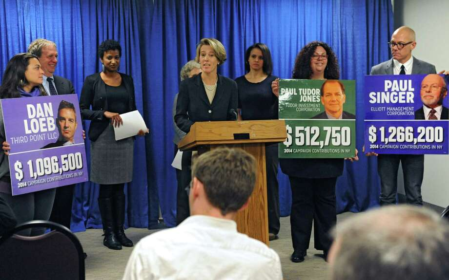 Zephyr Teachout, former gubernatorial candidate, speaks about strengthening the state's public education system rather than further its demise through privately run charter schools Wednesday, Nov. 3, 2014, during a press conference at the Legislative Office Building in Albany, N.Y.   (Lori Van Buren / Times Union) Photo: Lori Van Buren / 00029726A