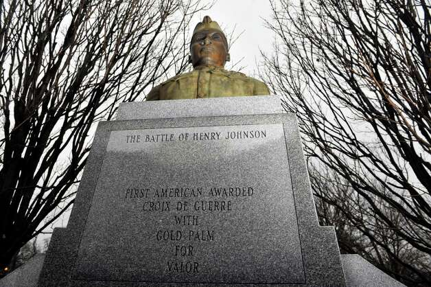 A view of the Henry Johnson statue in Washington Park on Wednesday, Dec. 3,  2014, in Albany, N.Y.    (Paul Buckowski / Times Union) Photo: Paul Buckowski / 00029728A
