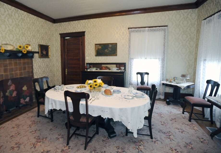"This is the next stop on the tour which is the Formal Dining Room.  The Chambers House Museum, located on Calder Avenue, was built in 1906 and purchased by Homer and Edith Chambers in 1914. They had two girls, Ruth, and Florence who lived in the house till 2004. For nearly 100 years, with the exception of a renovation, the house saw no changes to the structure or any of the furnishings.   The tour goes through 9 rooms, where guests are free to roam, but there is a ""no touching"" rule. The renovation cost 1.75 million to finish. Dave Ryan/The Enterprise Photo: Dave Ryan/The Enterprise"