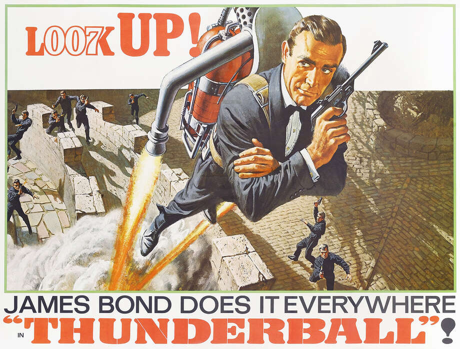 """Thunderball, 1965Italian actress Luciana Paoluzzi, 25, one of the new James Bond girls, and actor Sean Connery are shown during filming of the latest James Bond picture """"Thunderball."""" Photo: Movie Poster Image Art, File Photo / Moviepix"""