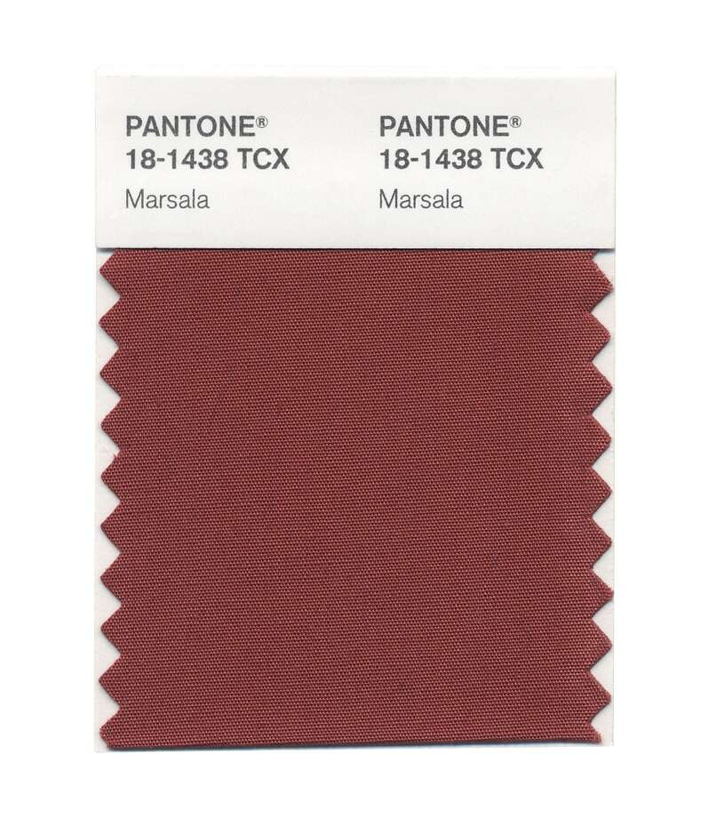 Pantone's color of the year, Marsala.