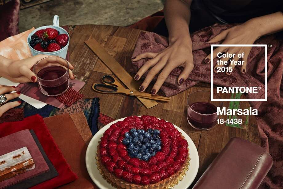 Marsala. a wine red color is 2015's color of the year, named by deemed by the Pantone Color Institute.