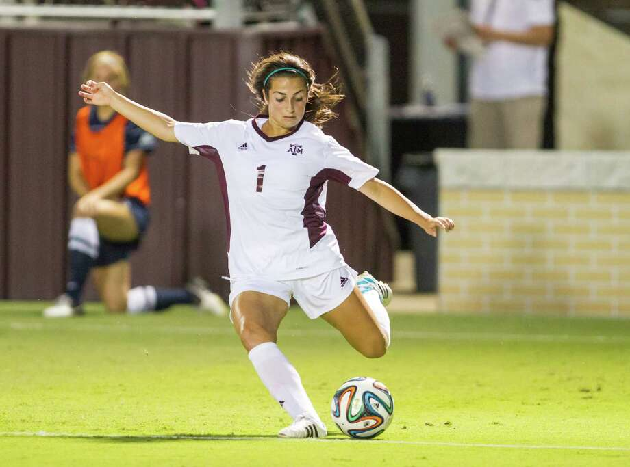 2014 action art of Texas A&M soccer player Allie Bailey. Photo: Courtesy Photo / Courtesy Photo / Texas A&M Athletics