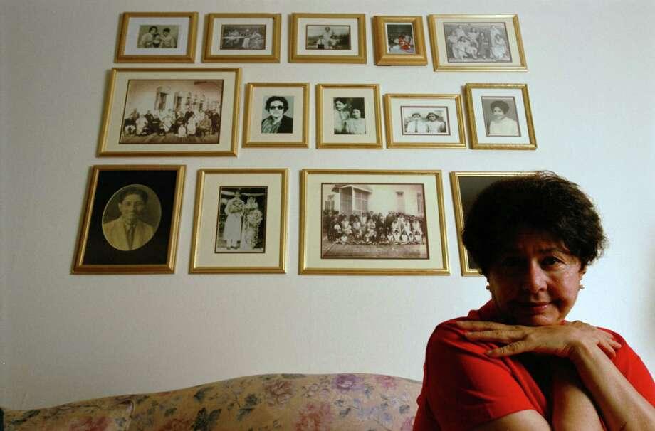 Bapsi Sidhwa, at home in 2002. Photo: Karen Warren, Houston Chronicle / Houston Chronicle