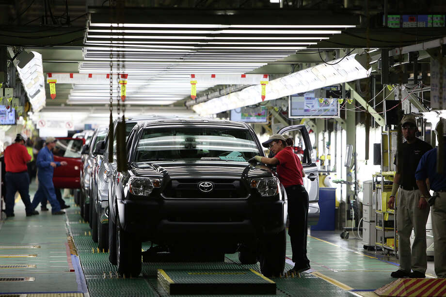 """A spokesman at the San Antonio plant said Toyota engineers already have arrived at the site to begin identifying necessary changes before production on the 2015 Tacoma can start. """"It's a very lengthy process and systematic approach to make sure we can meet all our same performance indicators on safety (and) productivity,"""" said Mario Lozoya, director of government affairs and external communications. Photo: Lisa Krantz, Staff / San Antonio Express-News / © 2012 San Antonio Express-News"""