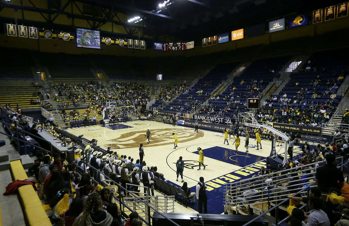 A file photo of fans at Haas Pavilion during the first half of an NCAA college basketball game between Cal and Sacramento State in Berkeley.