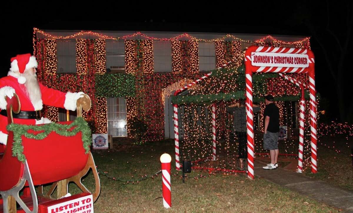 The Johnson family in Cy-Fair hosts a Christmas Corner decorating event each year.