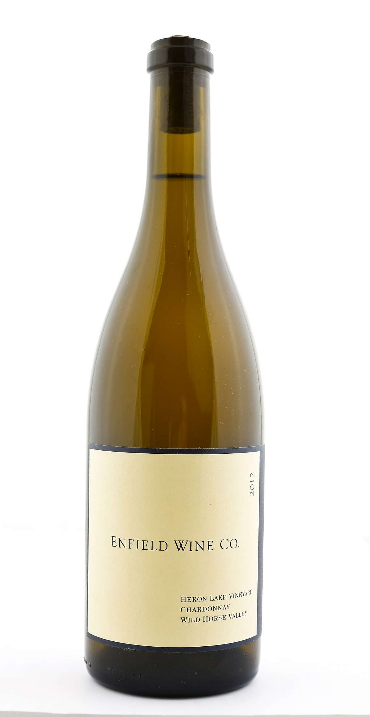 Enfield Wine Co. 2012 Chardonnay is seen on Thursday, Dec. 4, 2014 in San Francisco, Calif.