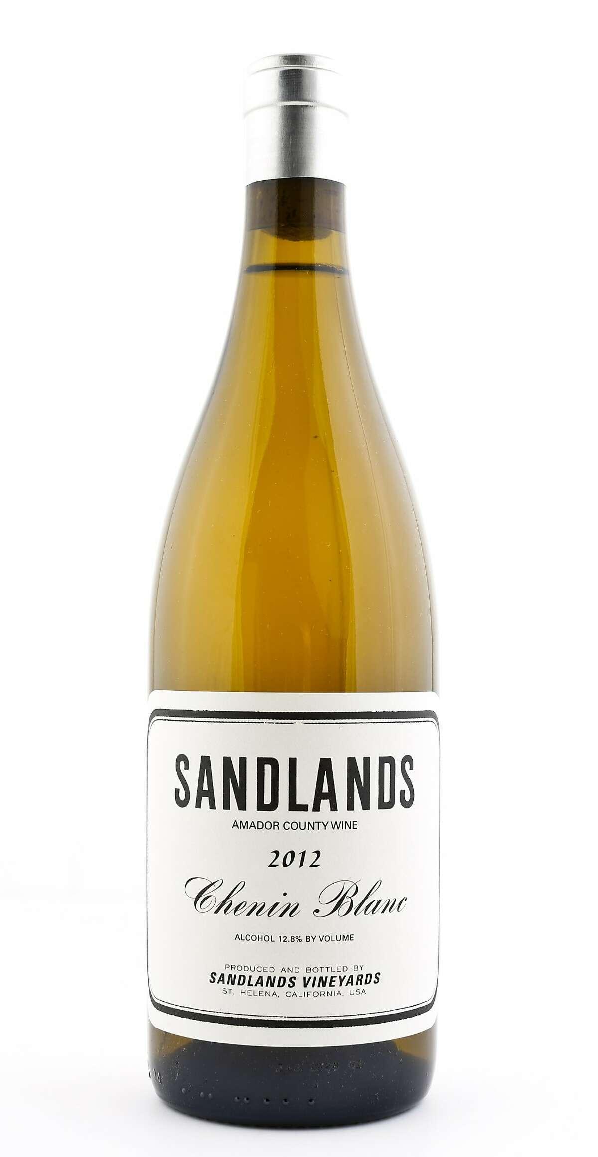 Sandlands 2012 Chenin Blanc is seen on Thursday, Dec. 4, 2014 in San Francisco, Calif.