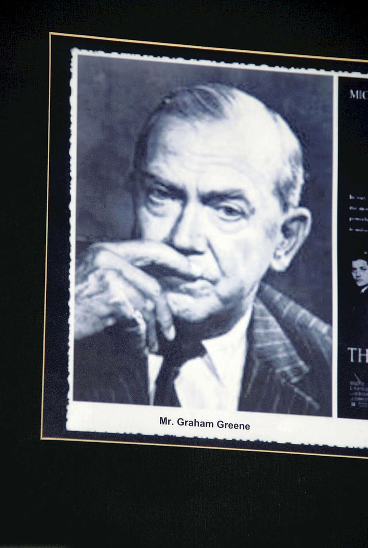 A photo of Graham Greene is on display in the Hotel Majestic in Ho Chi Minh City, Vietnam. Illustrates TRAVEL-GREENE (category i), by Kazuo Nagata © 2014, The Yomiuri Shimbun. Moved Monday, Dec. 1, 2014. (MUST CREDIT: Yomiuri Shimbun photo by Kazuo Nagata.)