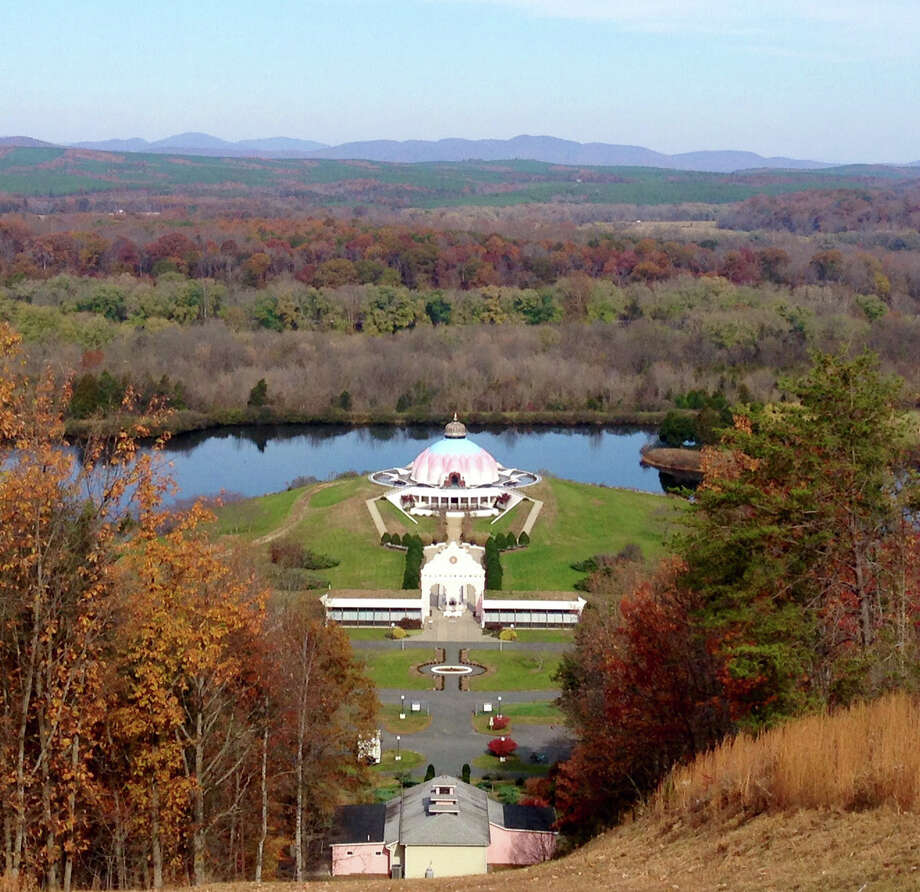 Against a backdrop of the Blue Ridge Mountains, the Lord Shiva Nataraja Shrine is the Yogaville analog to Monticello. Photo: BETTINA LANYI, STR / THE WASHINGTON POST / THE WASHINGTON POST