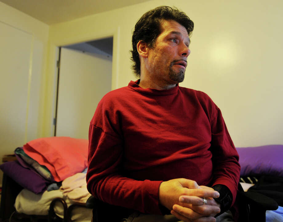 Martin Chalecki, in his apartment at the Marina Village housing project in Bridgeport, Conn. on Thursday, December 4, 2014, claims he was molested by Gonzalo Flores while a patient at St. Vincent's Medical Center. Chalecki said he reported the molestation to the hospital at the time, but that his charges were dismissed by hospital authorities. Photo: Brian A. Pounds / Connecticut Post