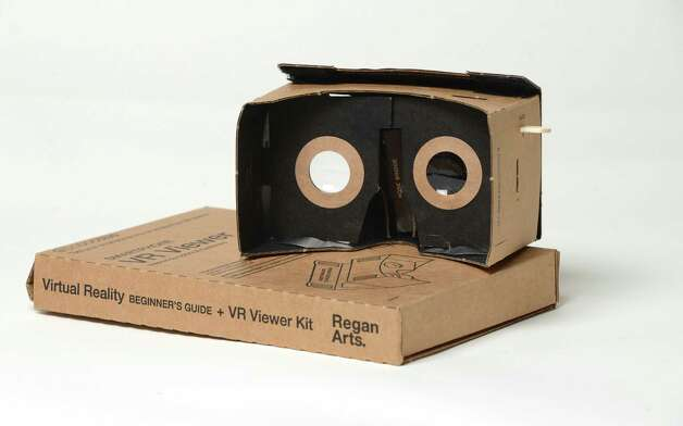 Smartphone VR Viewer kit Wednesday, Nov. 3, 2014, at the Times Union in Colonie, N.Y. (Will Waldron/Times Union) Photo: WW / 00029701A