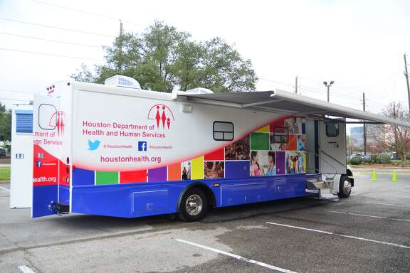 The Houston Department of Health and Human Services' new HIV/STD mobile clinic, a 38-foot van, cost $233,312, and includes an exam table, a mini lab for rapid HIV and syphillis testing, interview rooms and a waiting area.