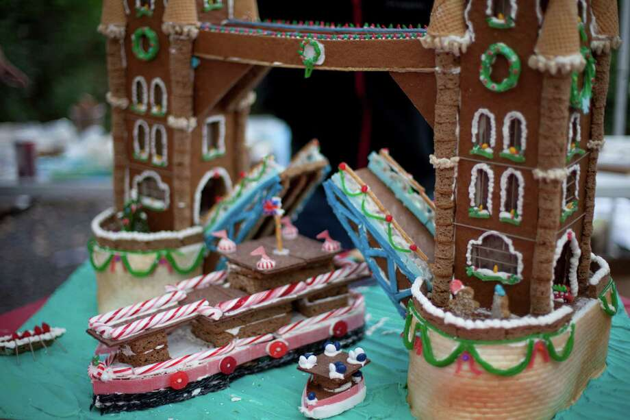 This epic construction of London's Tower Bridge won the top Grand Priz de Show at last years Gingerbread war.On December 13, 30 teams will compete to be crowned winner in the 2014 gingerbread build off at City Hall's Hermann Square. These are some of the best from 2013. Photo: Rocio Subira