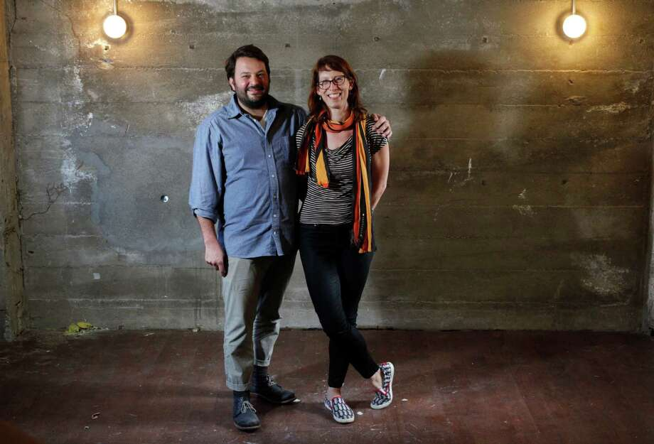 Chefs Stuart Brioza and Nicole Krasinski pictured in the construction zone of their upcoming restaurant The Progress Nov. 15, 2014 in San Francisco, Calif. Chefs Stuart Brioza and Nicole Krasinski currently own the wildly popular restaurant, State Bird Provisions, and will be opening up their second place, The Progess, in December right next door. Photo: Leah Millis / The Chronicle / ONLINE_YES