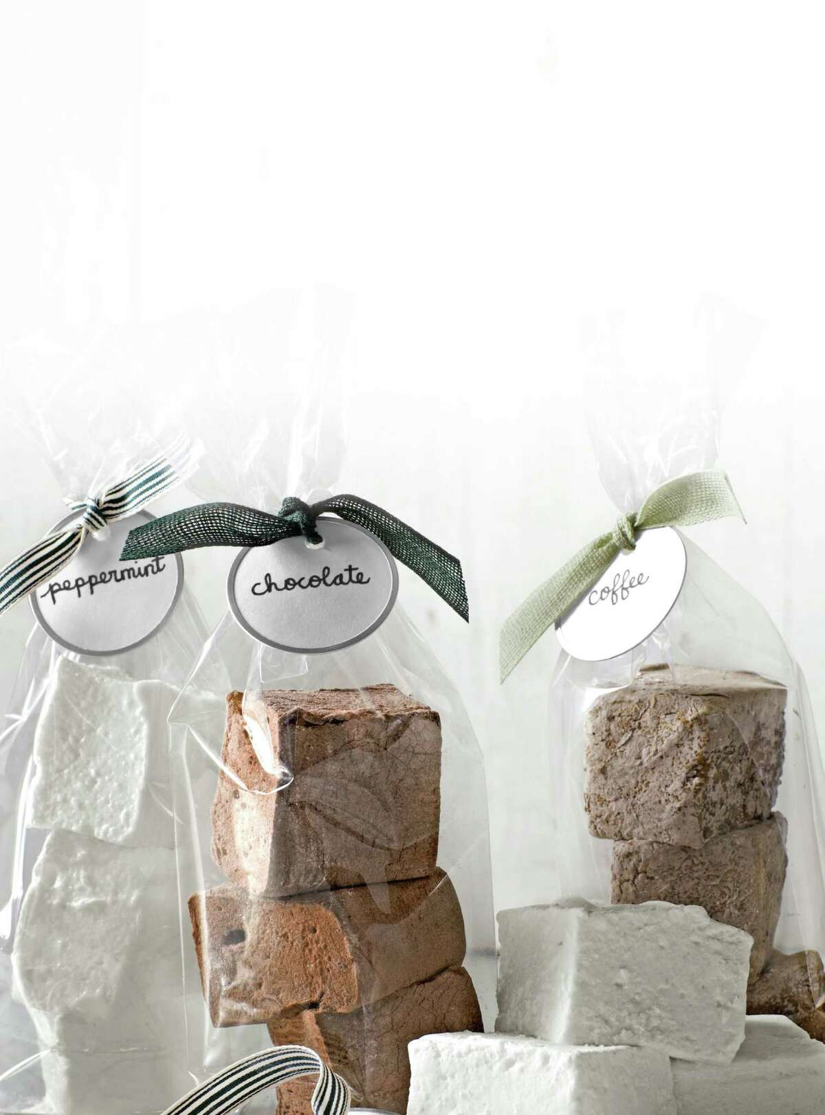 """Variations of gourmet marshmallows from """"Holiday Cheer"""" by Hearst Communications."""