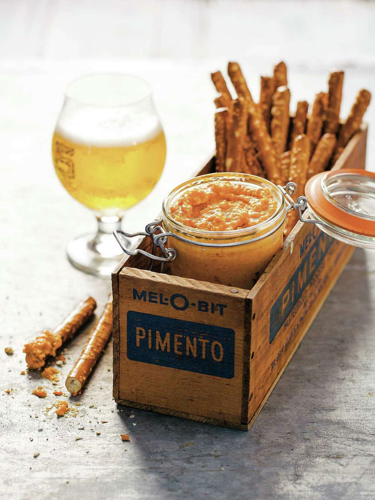 """Pimento beer cheese from """"Pimento Cheese: The Cookbook,"""" by Perre Coleman Magness."""