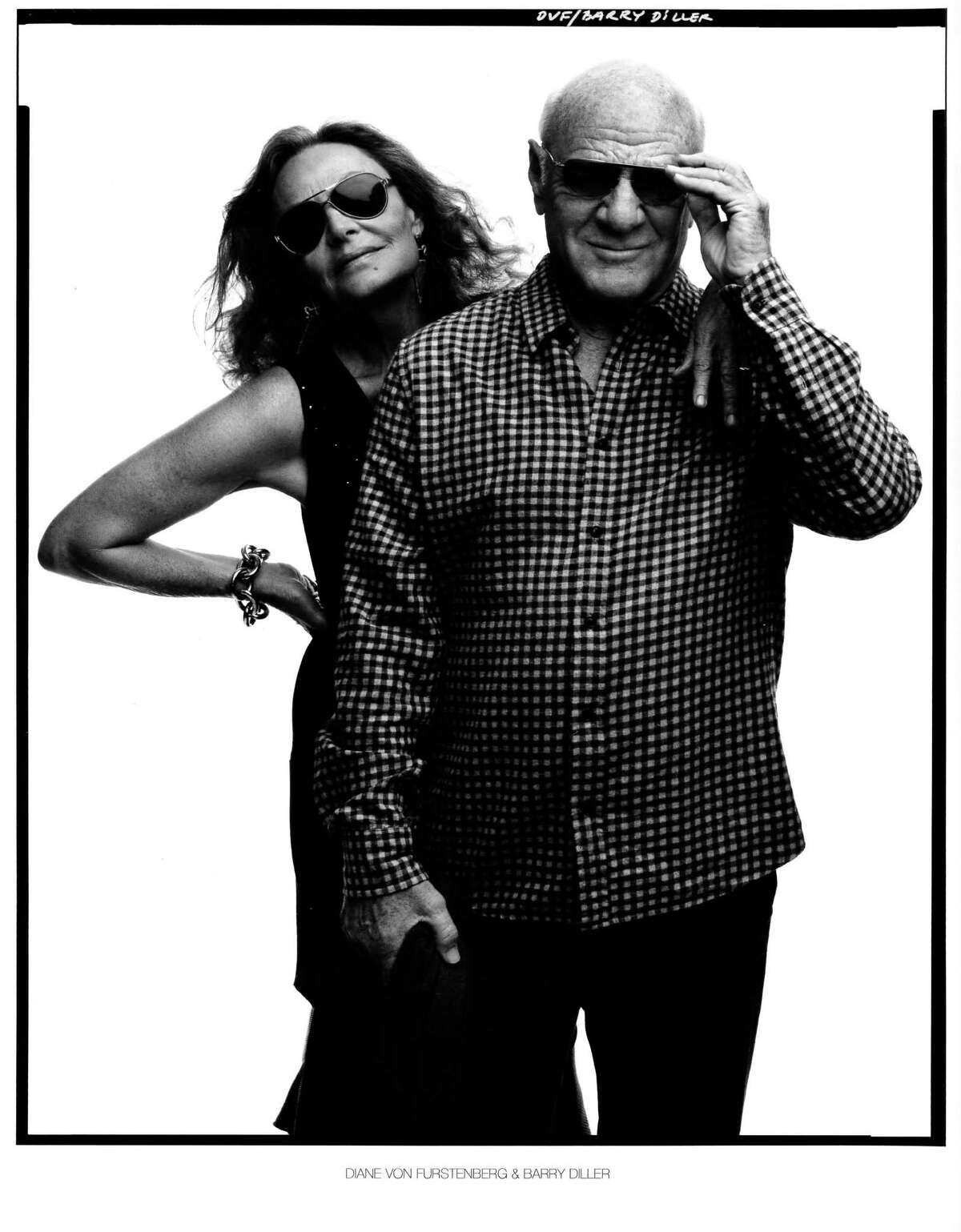 Fashion designer Diane von Furstenberg, famed for creating the wrap dress in the 1970s and a vibrant force in the fashion industry, with her second husband, movie industry executive Barry Diller.