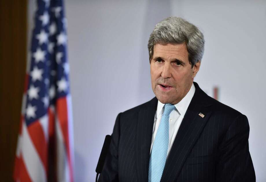 Secretary of State John Kerry says Russia should aim for calm borders. Photo: LEON NEAL, Staff / AFP/Getty Images / AFP