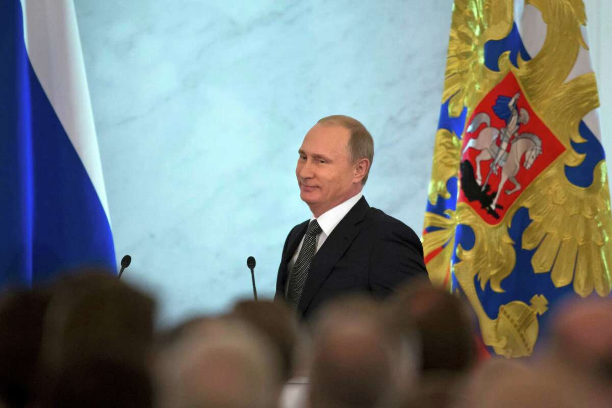 President Vladimir Putin says Russia should use its anger with the West to try to overhaul its economy.