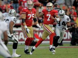 San Francisco 49ers quarterback Colin Kaepernick (7) scrambles out of the pocket in the fourth quarter, as the San Francisco 49ers take on the Oakland Raiders in preseason action at Candlestick Park in San Francisco, Calif. on Saturday August 20, 2011.