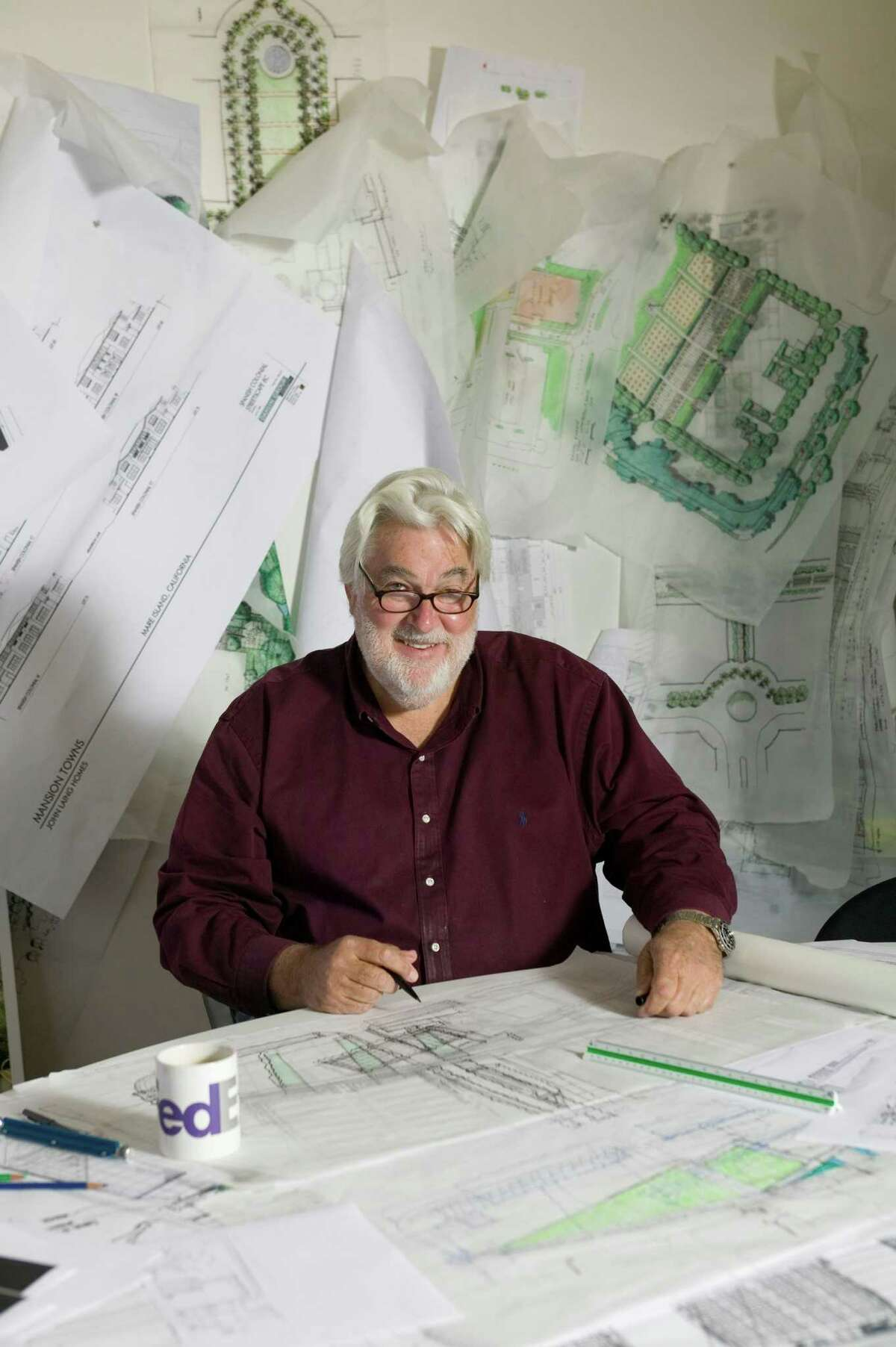 William B. Callaway in his studio at the landscape architecture firm SWA Group. Mr. Callaway died on Nov. 25, 2014 at the age of 71.